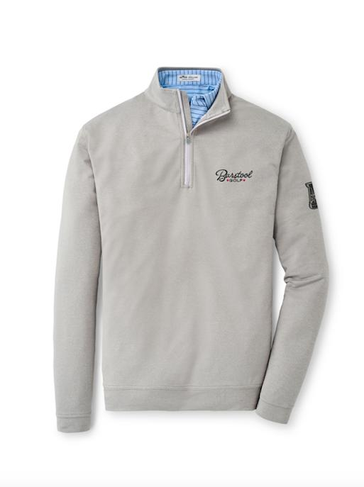 Peter Millar Barstool Golf Trophy Quarter Zip