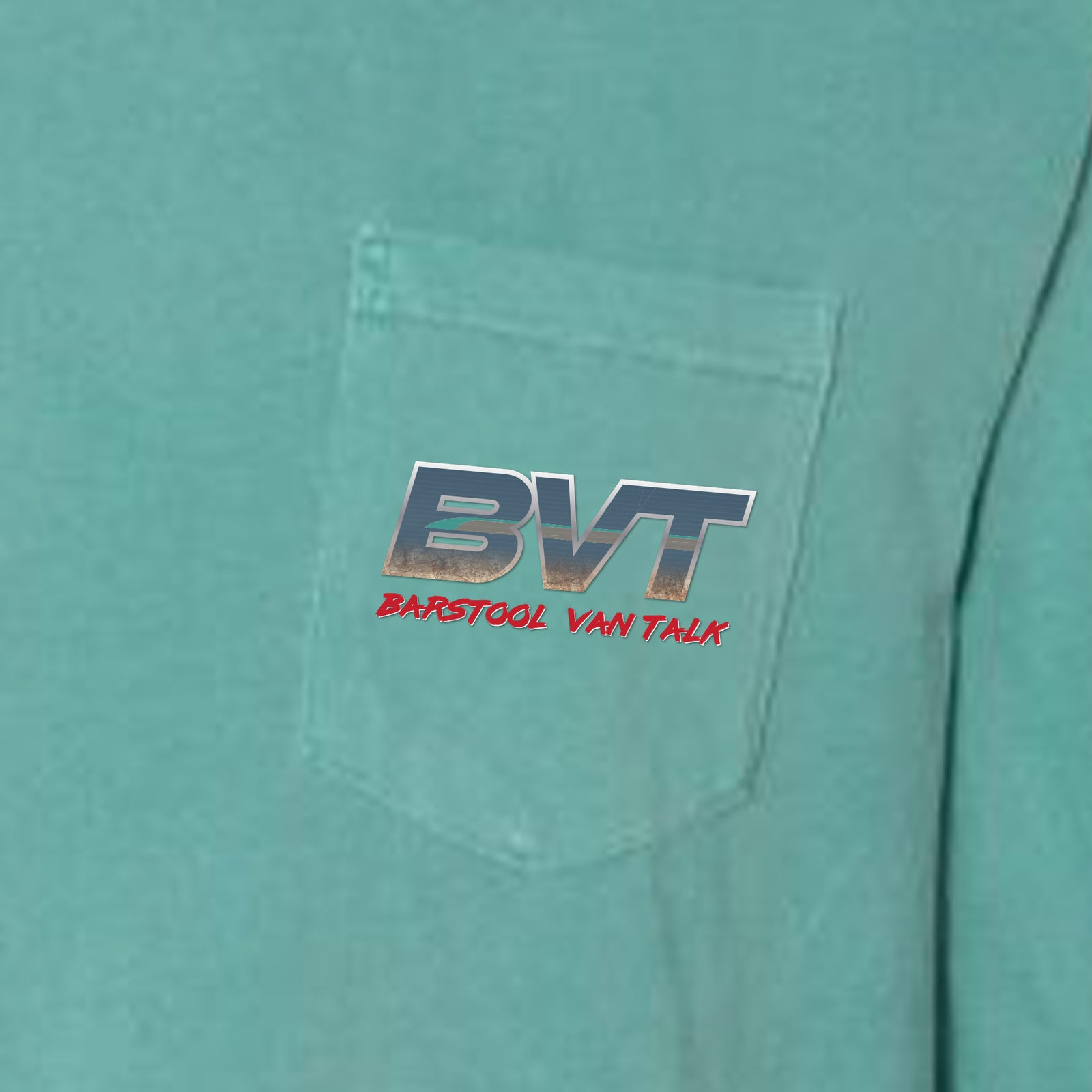 Barstool Van Talk Long Sleeve Pocket Tee