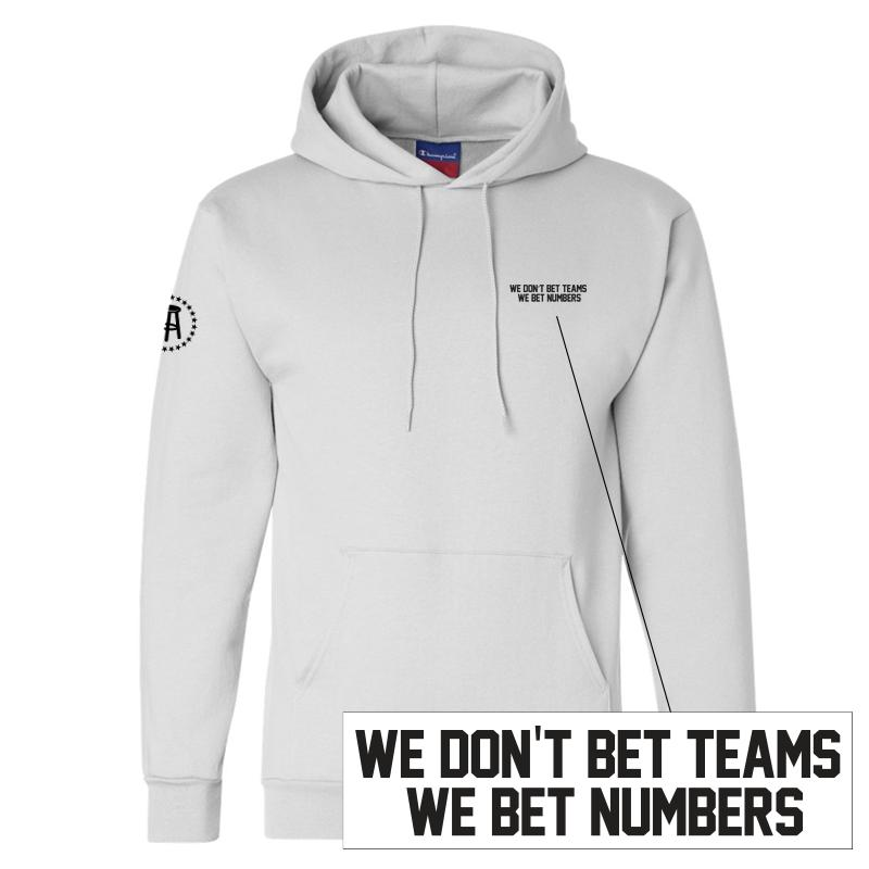 We Don't Bet Teams We Bet Numbers LC Hoodie