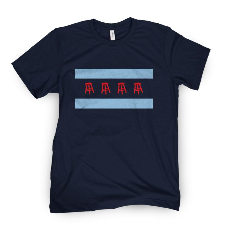 Chicago Flag Barstool Tee