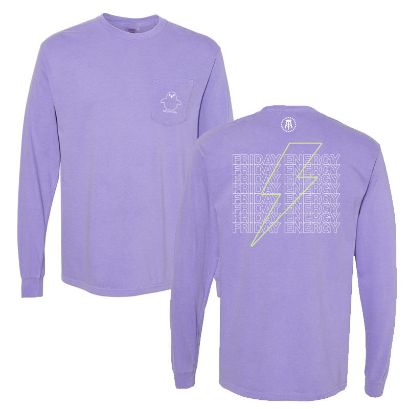 Friday Energy Long Sleeve Pocket Tee