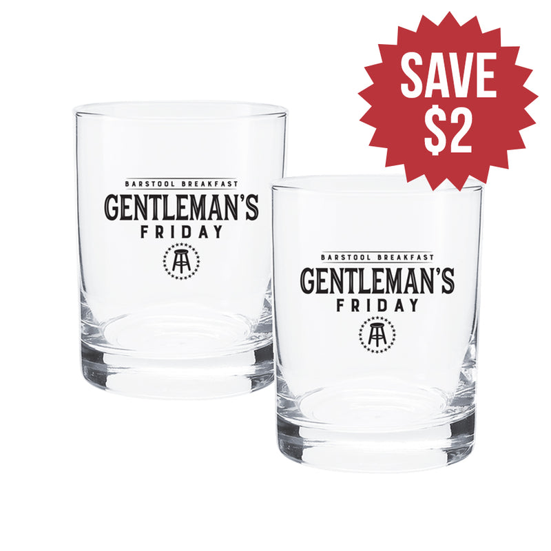 Gentleman's Friday Rocks Glass 2 Pack