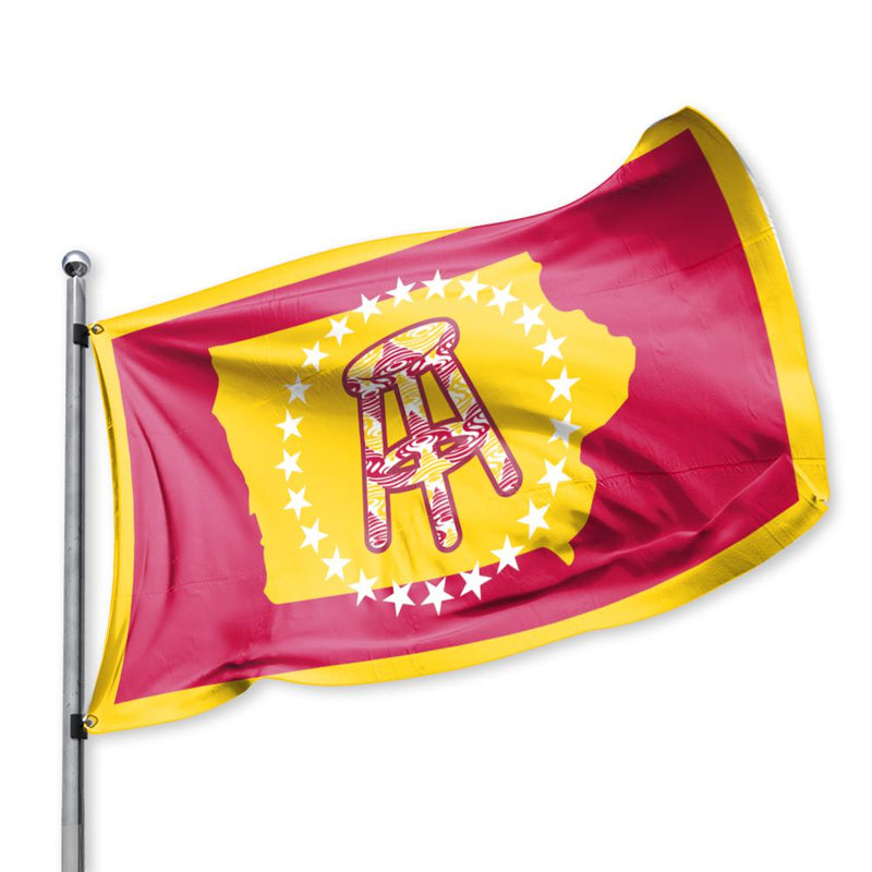 Barstool Campus Flag - Yellow Red White