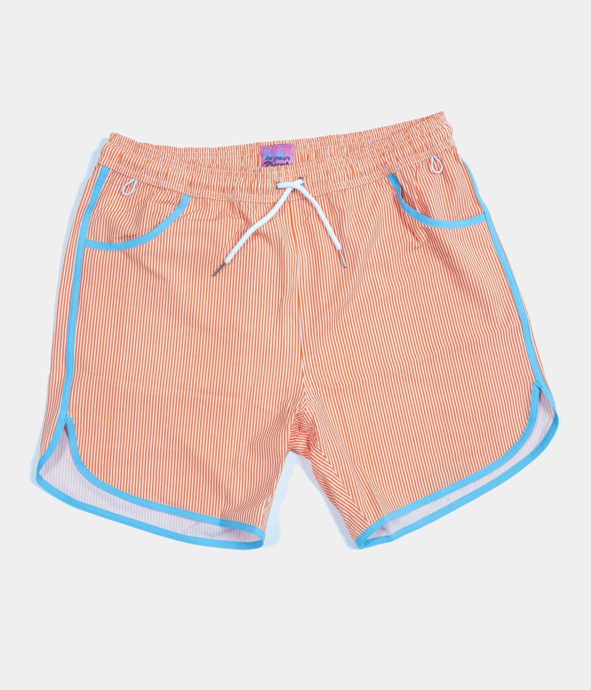 Junk in Your Trunks Pinstripe Swim Trunks