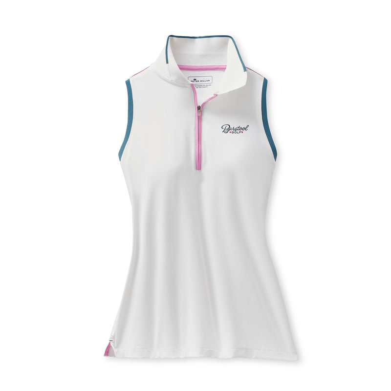 Peter Millar x Barstool Golf Women's Chrissie Sleeveless Zip-Neck Polo
