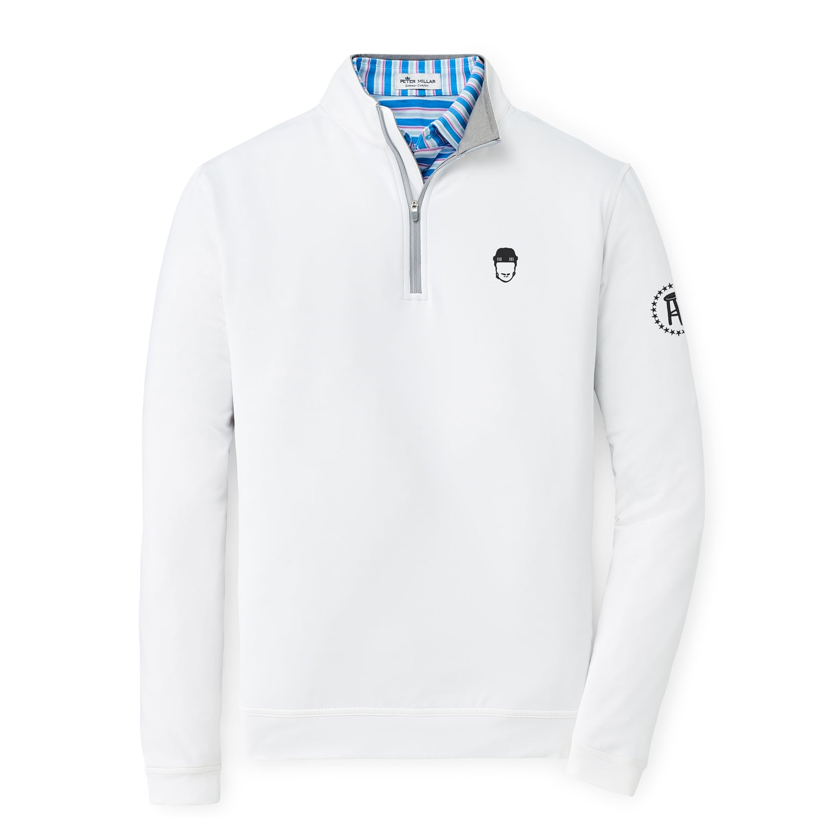 Peter Millar x Spittin Chiclets Perth Stretch Loop Terry Quarter Zip