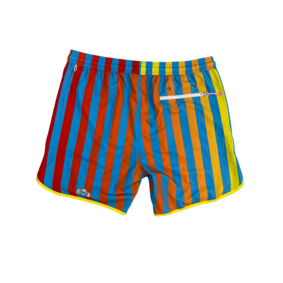 Junk in Your Trunks Thick Stripe Swim Trunks