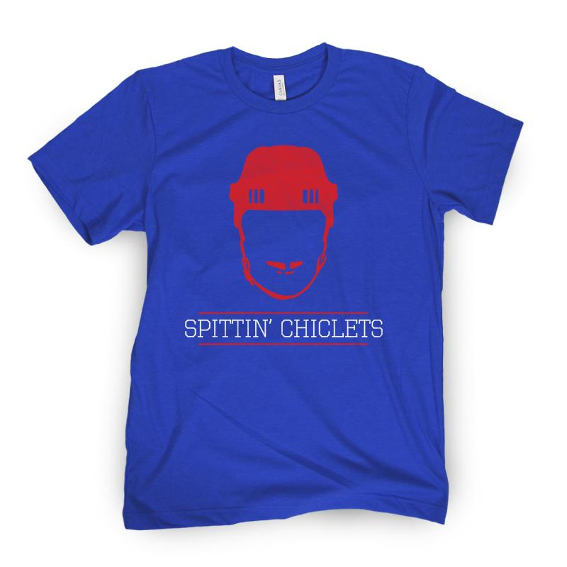 Spittin Chiclets Logo Tee (Royal/Red)