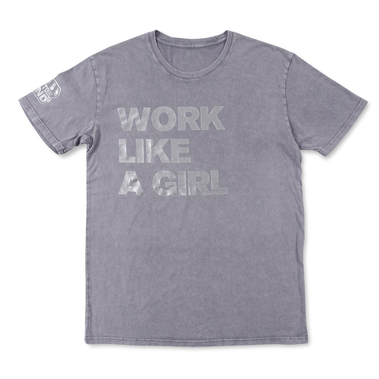Work Like A Girl Metallic Tee