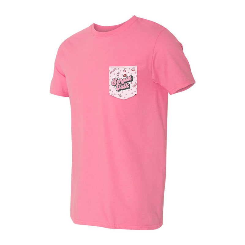 Schnitt Talk Pocket Tee (Pink)