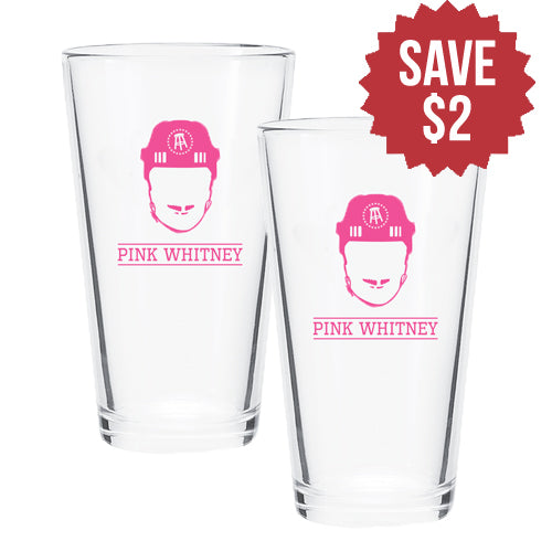 Pink Whitney Pint Glass 2 Pack