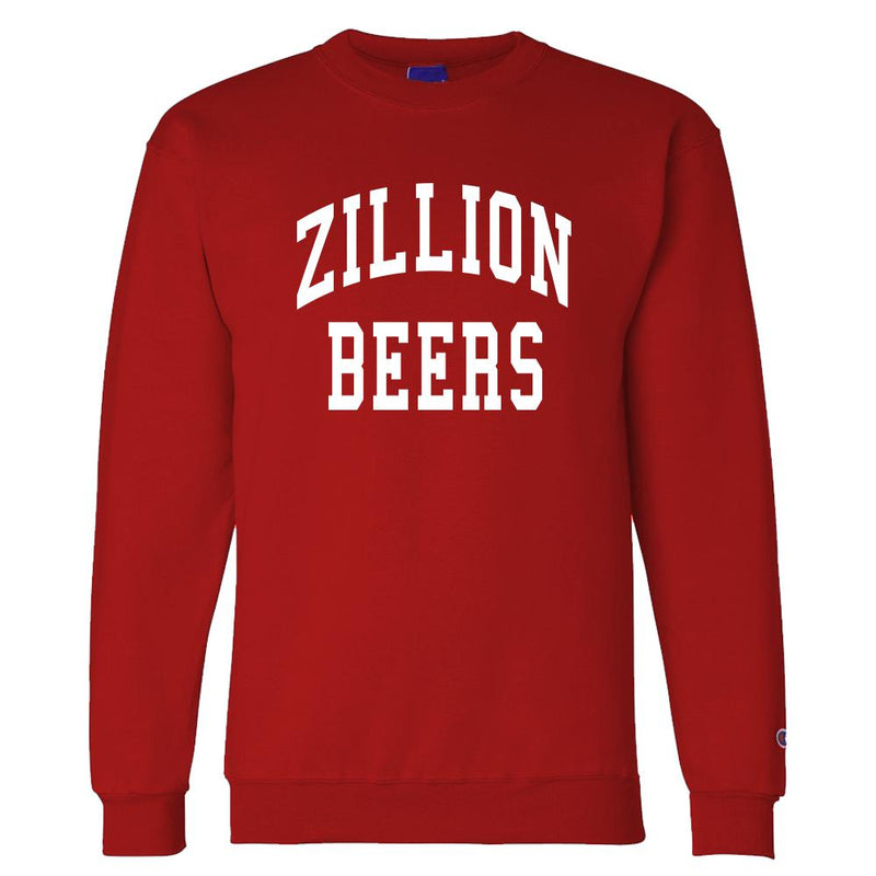 Zillion Beers Crewneck (Red/White)