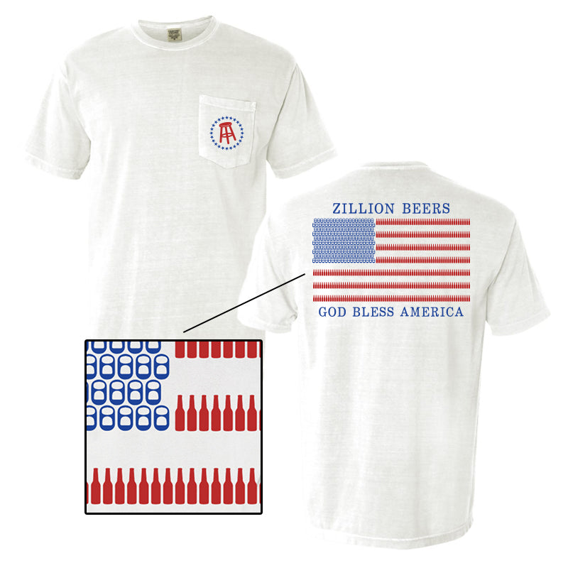 Zillion Beers America Pocket Tee