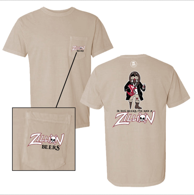 Zillion Beers Pirate Dog Pocket Tee