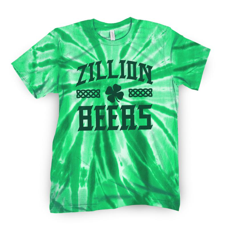 Zillion Beers Celtic Tie Dye Tee