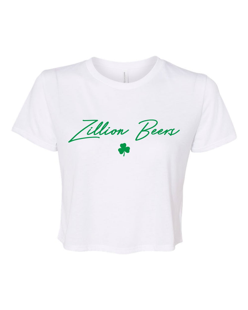 Zillion Beers Shamrock Cropped Tee