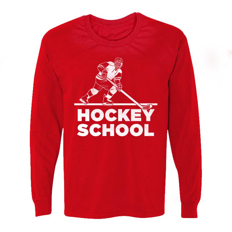 Hockey School W Long Sleeve Tee