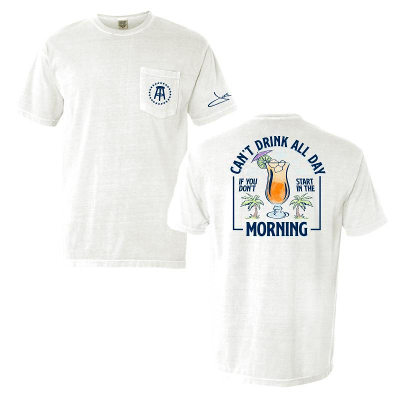 Barstool Sports Cant Drink All Day Pocket T-Shirt