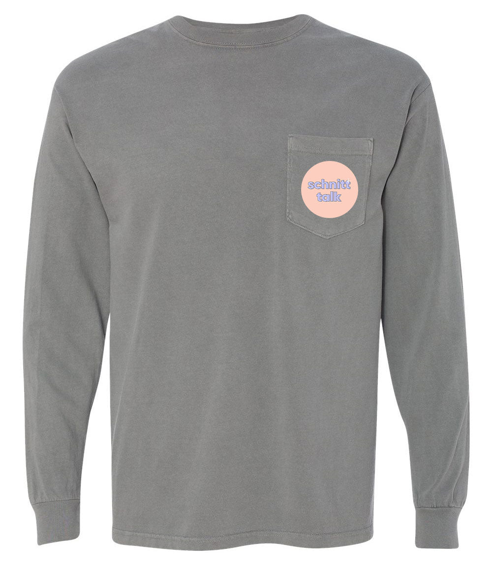 Crying But Thriving Longsleeve Pocket Tee