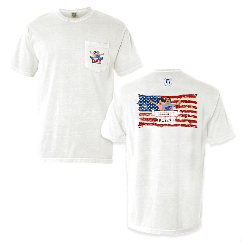 PMT USA Flag Pocket Tee