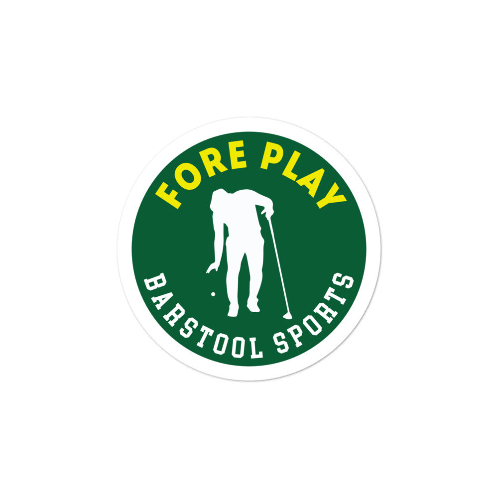 Fore Play Sticker