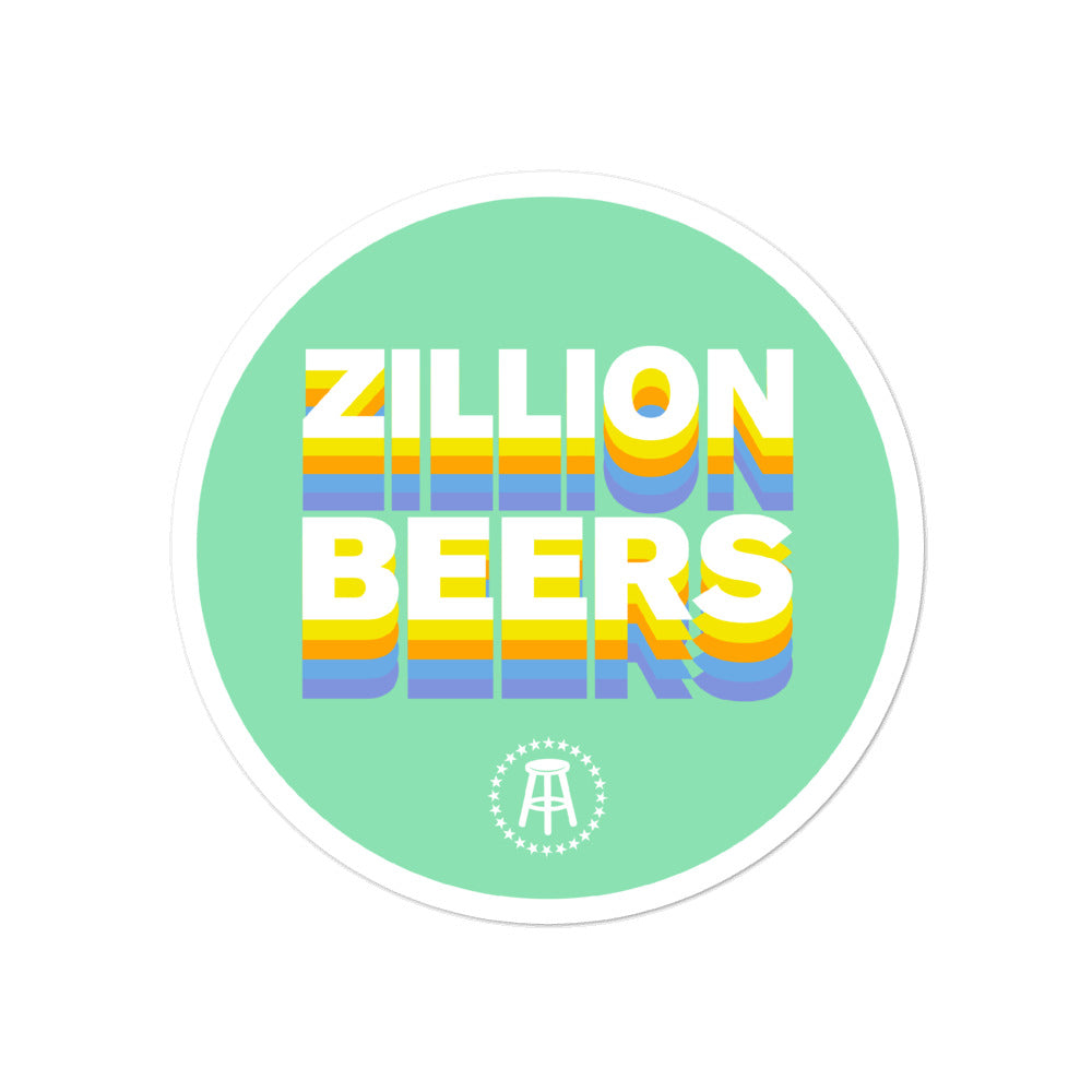 Zillion Beers Sticker