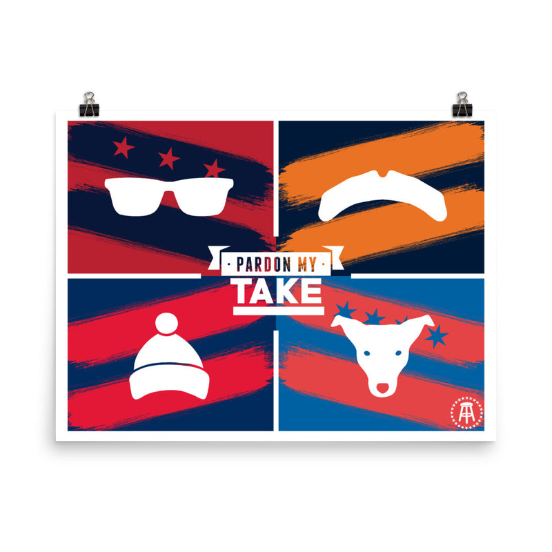 Pardon My Take Icon Poster