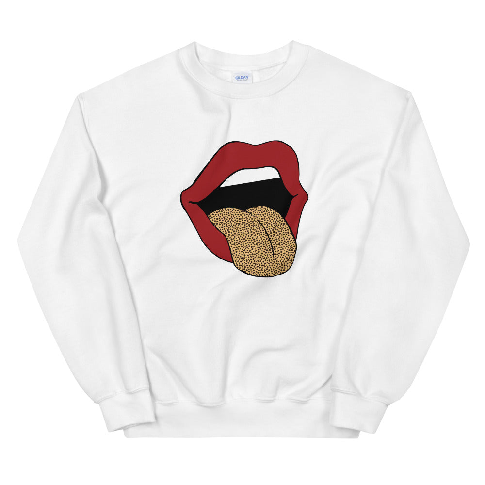 Lips & Cheetah Boyfriend Crewneck