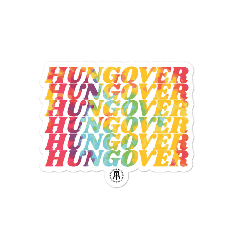 Hungover Repeat Tie Dye Sticker