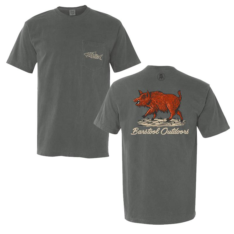 Barstool Outdoors Hog Drawing Pocket Tee