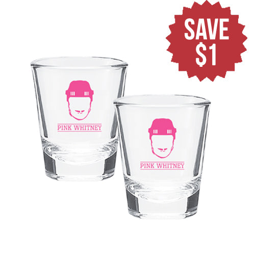 Pink Whitney Shot Glass 2 Pack