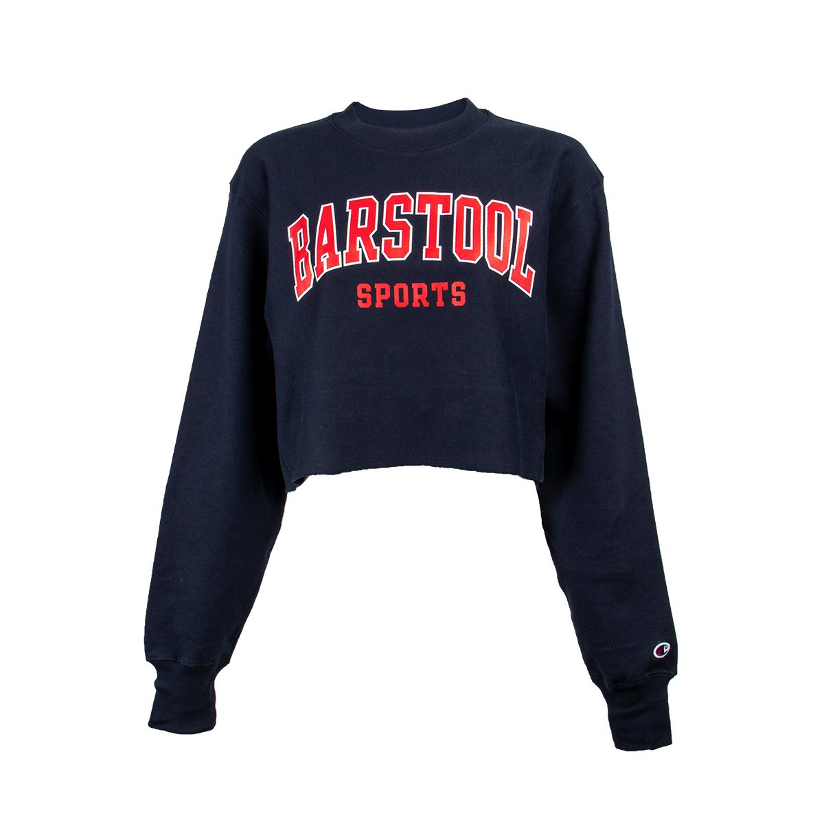 Barstool Sports Women's Champion Cropped Crewneck