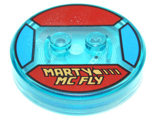 Dimensions Toy Tag  -- Marty McFly  - with Yellow 'MARTY MC FLY' Pattern