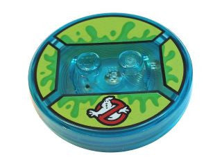 Dimensions Toy Tag  -- Slimer  - with Bright Green Slime and Ghostbusters Symbol Pattern