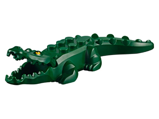 Alligator / Crocodile with 20 Teeth with Yellow Eyes Pattern