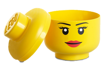 Girl Minifig Head Storage Container, Small
