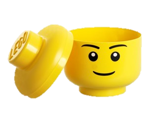Boy Minifig Head Storage Container, Small