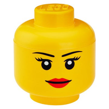 LEGO Storage Head (Girl) - Large