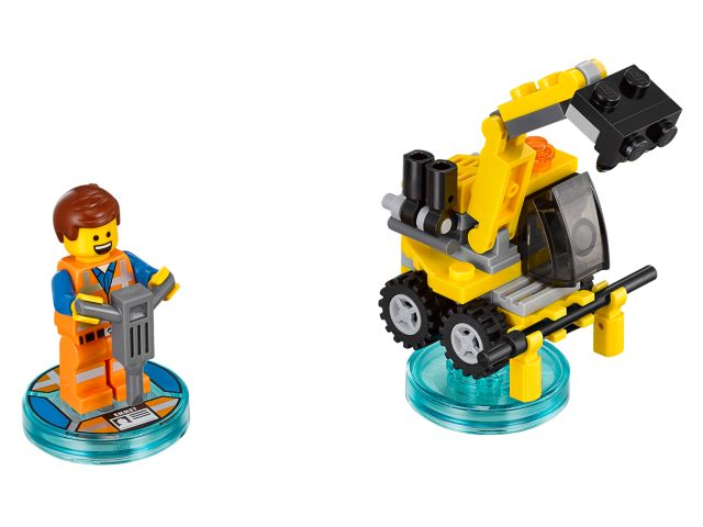 The LEGO Movie Emmet and Emmet's Excavator