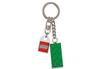 2 x 4 Brick - Green Key Chain