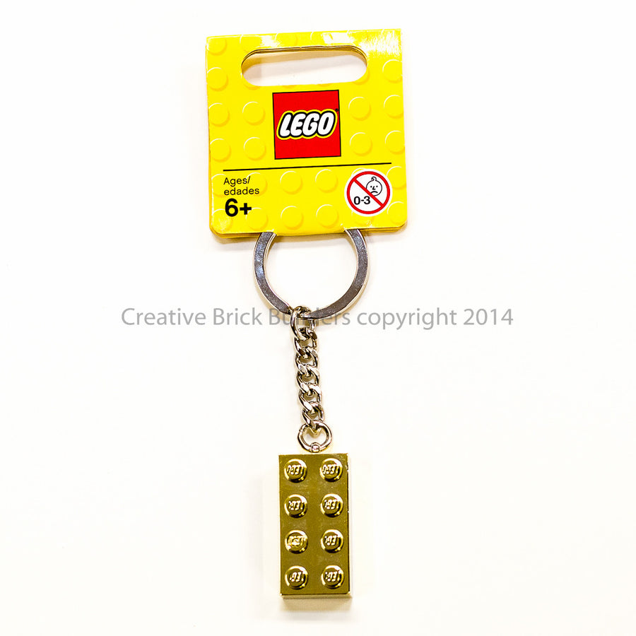 Keychain: Gold brick