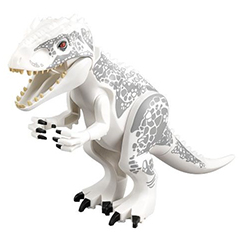 Dino Indominus Rex with Black Claws and Light Bluish Gray Spots - Complete Assembly (75919)