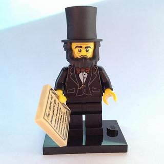 LEGO Minifigure-Abraham Lincoln-Collectible Minifigures / The LEGO Movie-COLTLM-5-Creative Brick Builders