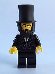 LEGO Minifigure-Abraham Lincoln-Collectible Minifigures / The LEGO Movie-TLM005-Creative Brick Builders
