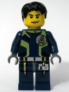LEGO Minifigure-Agent Chase - Dual Sided Head-Agents-AGT001-Creative Brick Builders