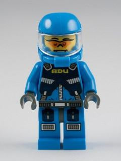 LEGO Minifigure-Alien Defense Unit Soldier 1 - Dark Bluish Gray Hips-Space / Alien Conquest-AC001-Creative Brick Builders