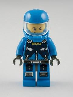 LEGO Minifigure-Alien Defense Unit Soldier 2 - Dark Bluish Gray Hips-Space / Alien Conquest-AC005-Creative Brick Builders