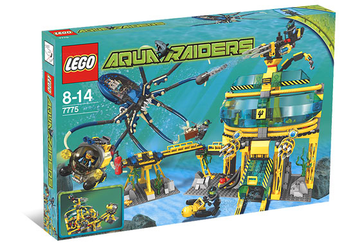 LEGO Set-Aquabase Invasion-Aquazone / Aquaraiders II-7775-1-Creative Brick Builders