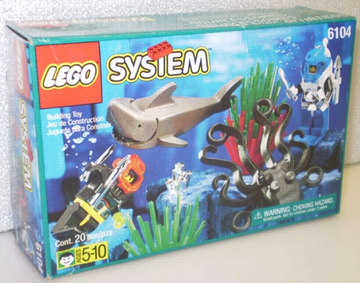 LEGO Set-Aquashark Dart-Aquazone / Aquasharks-6100-1-Creative Brick Builders