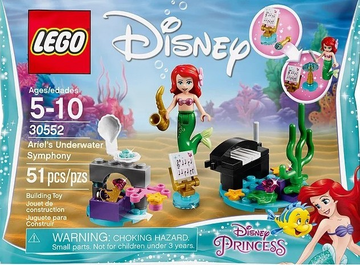 LEGO Set-Ariel's Underwater Symphony (Polybag)-Disney Princess-30552-1-Creative Brick Builders